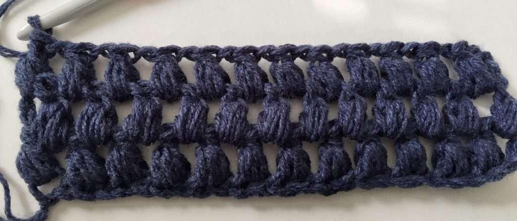 Three Rows of Puff Stitches Crochet