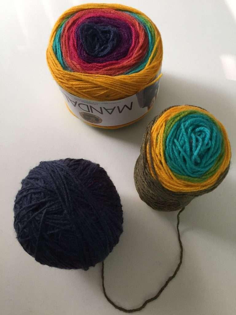 Separating Colors in Lion Brand Mandala Yarn