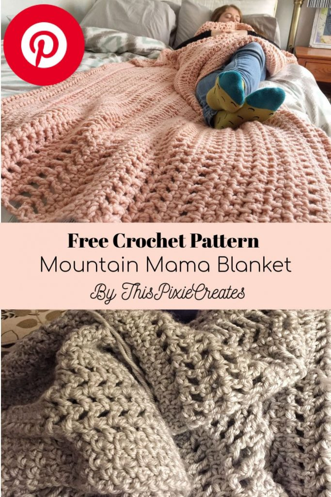 The Mountain Mama Crochet Blanket Pinterest Pin