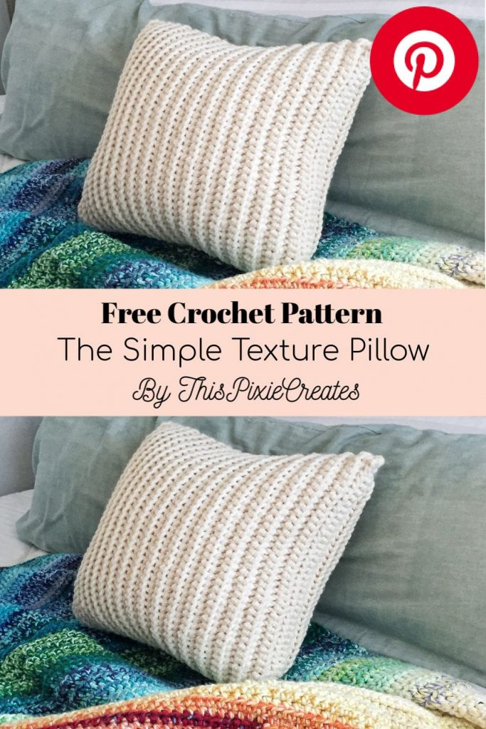 The Simple Texture Crochet Pattern Pinterest Pin