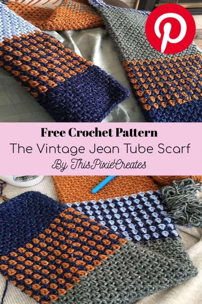 Crochet Tube Scarf Pinterest Pin