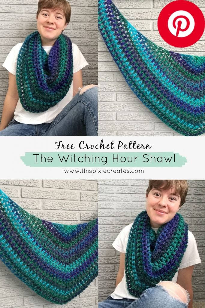 The Witching Hour Shawl Pinterest Pin