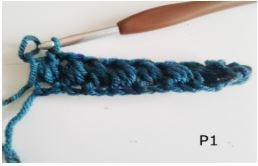 Row of Puff Stitches