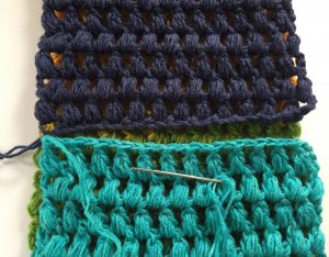 Line Up the Ends of a Crochet Scarf
