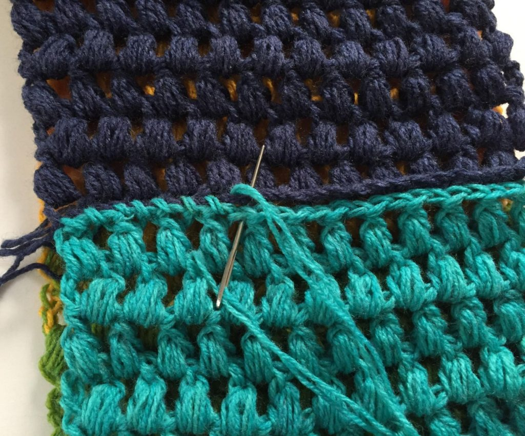 Whip Stitch to Make an Infinity Scarf