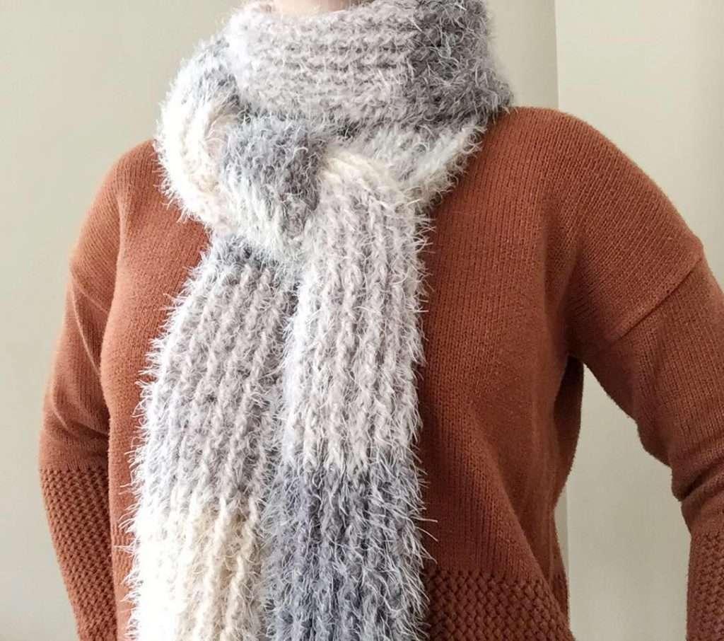 Crochet Fuzzy Scarf Pattern