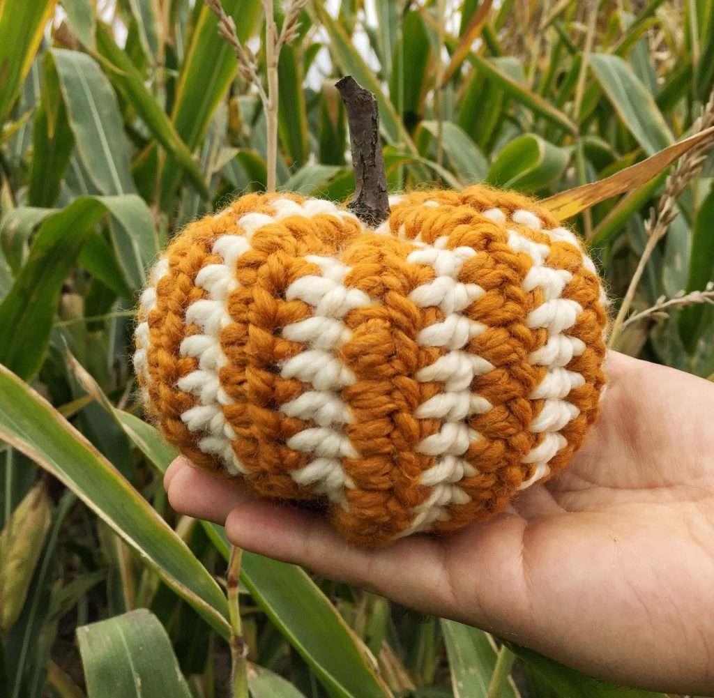 Striped Crochet Pumpkin Pattern