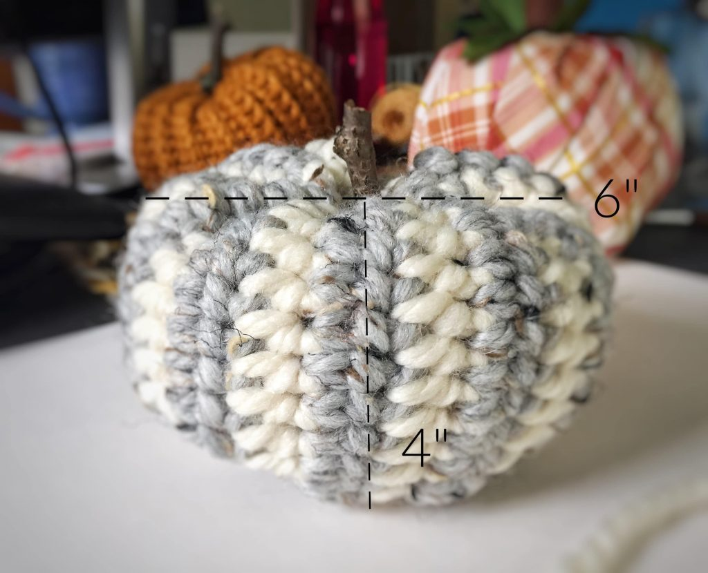 Customize the Size of Any Crochet Pumpkin