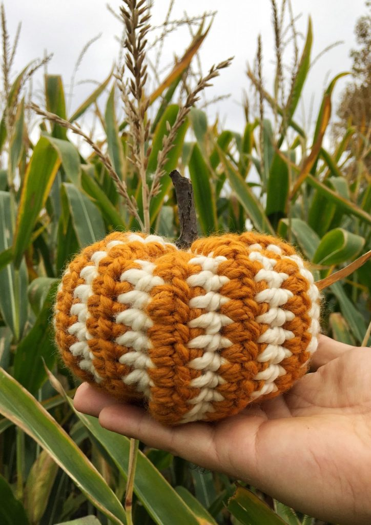 Striped Crochet Pumpkin Pattern
