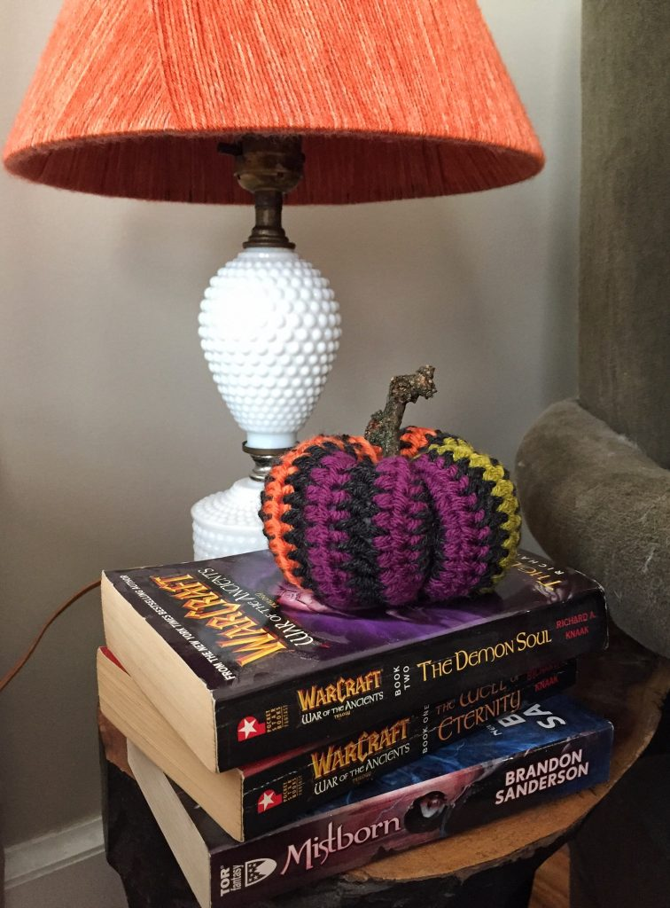 Crochet Striped Halloween Pumpkin