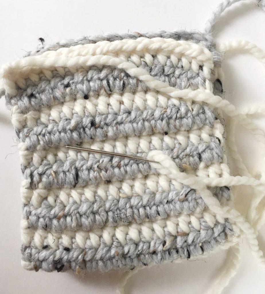 Fold the Rectangle in Half to Make a Crochet Pumpkin