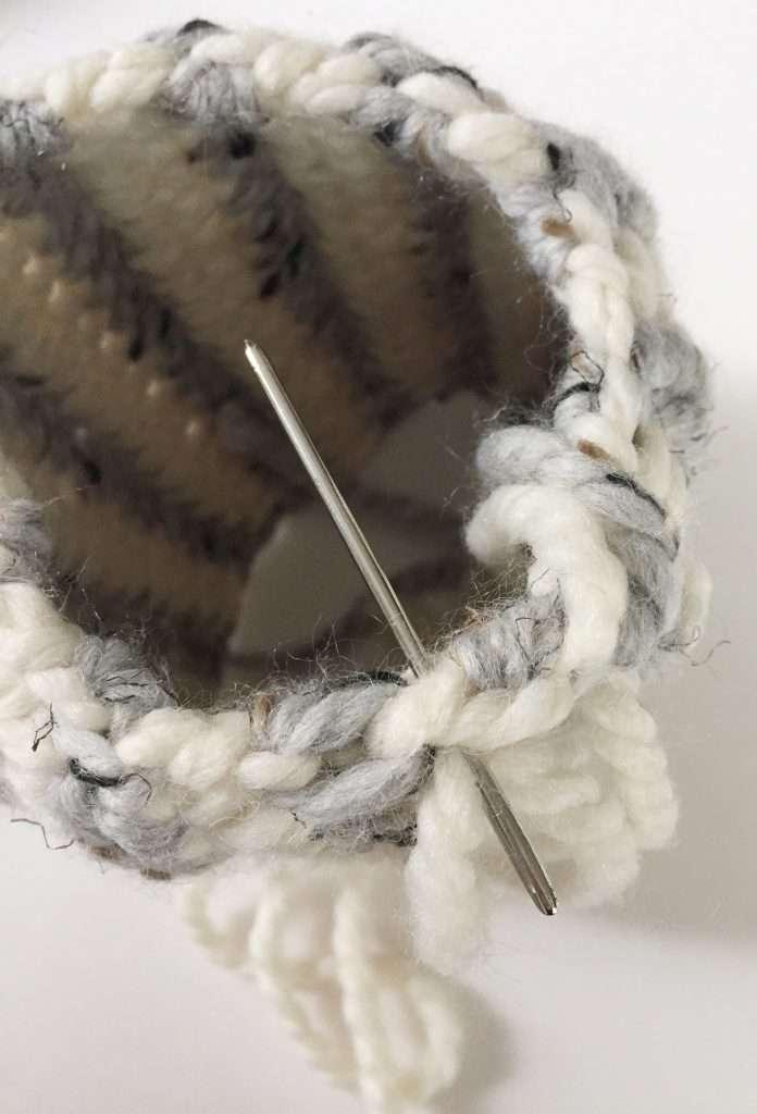 Sewing a Crochet Pumpkin Together