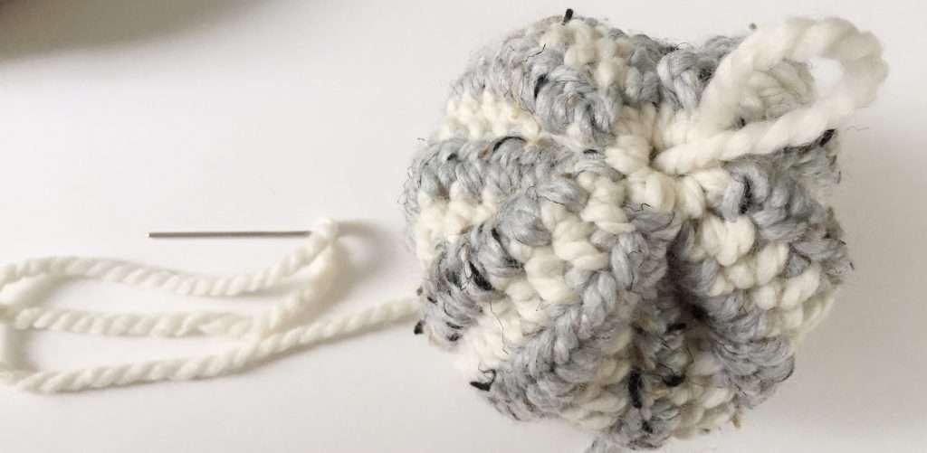 Closing the Bottom of a Crochet Pumpkin