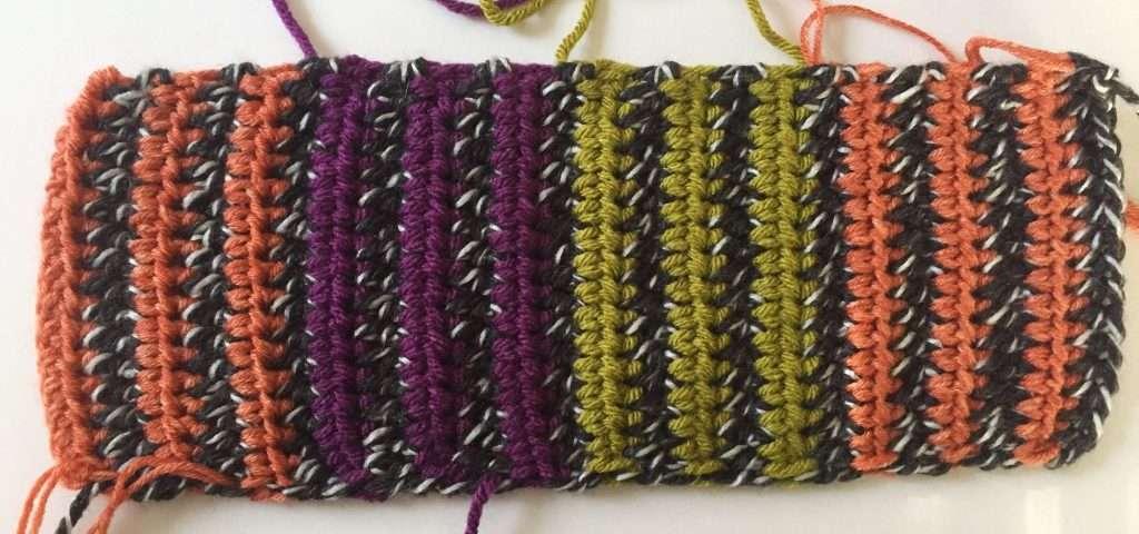 Striped Rectangle Crochet