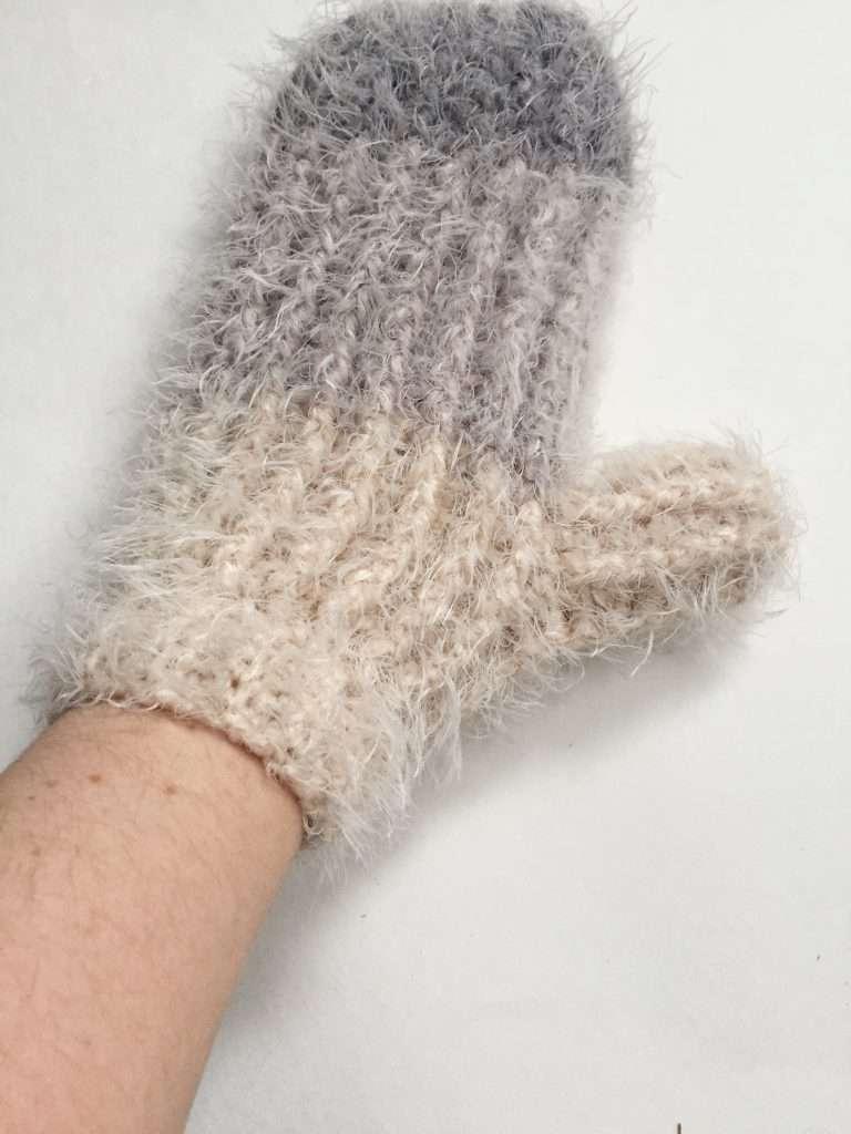 Fuzzy Crochet Mittens Free Pattern