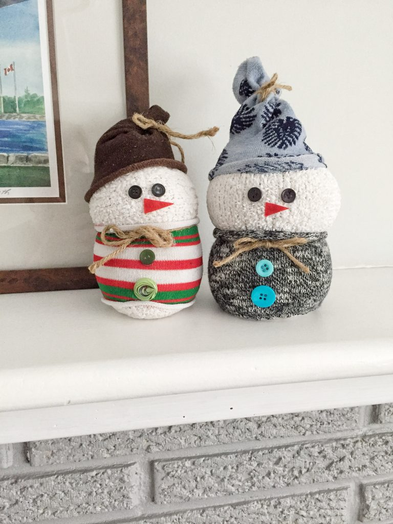Sock Snowmen Craft Tutorial