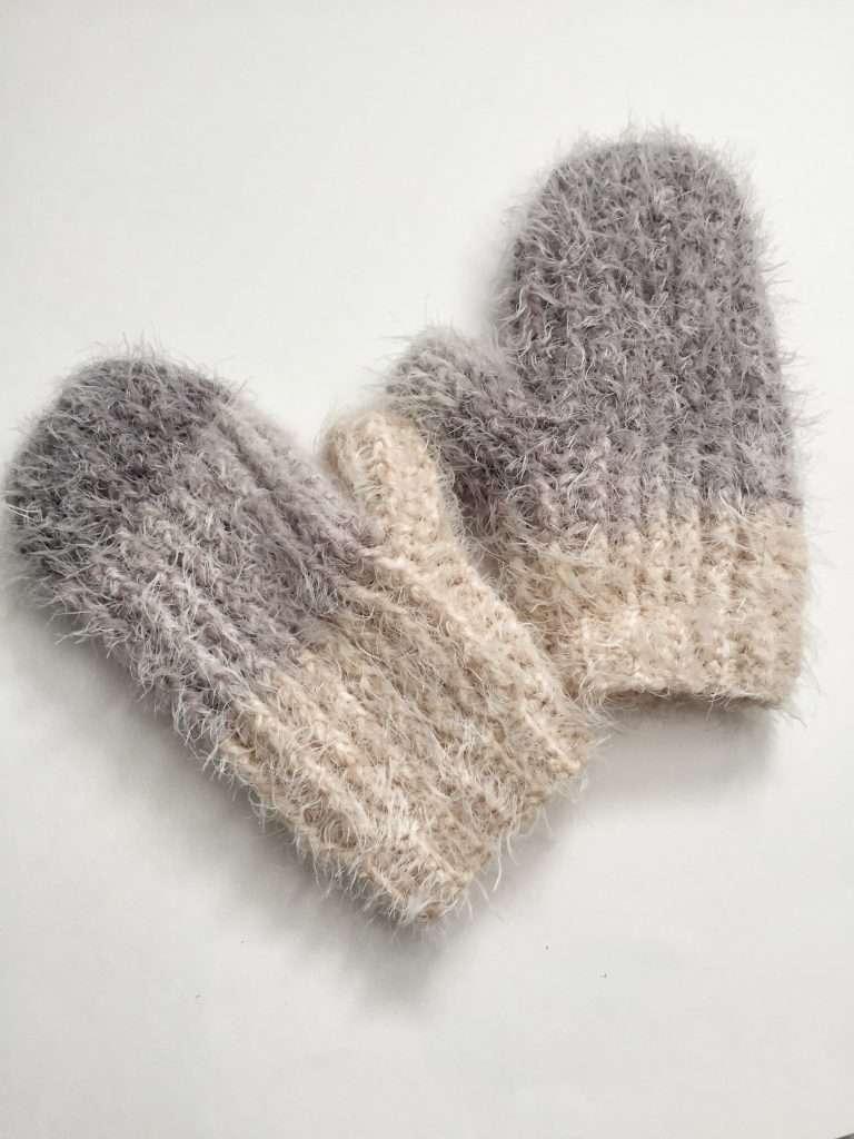 Crochet Textured Mittens Free Pattern