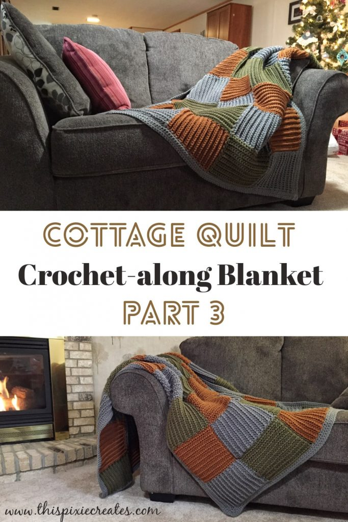 Crochet Join as You Go Squares Blanket Free Pattern