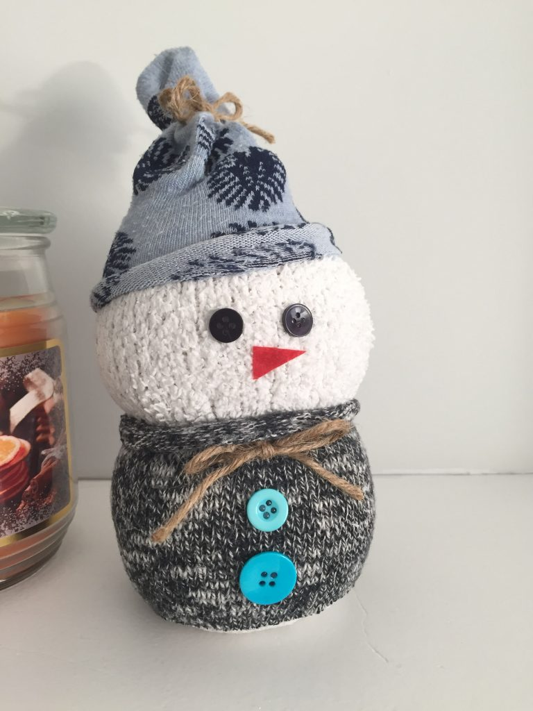 Easy Sock Snowman Craft