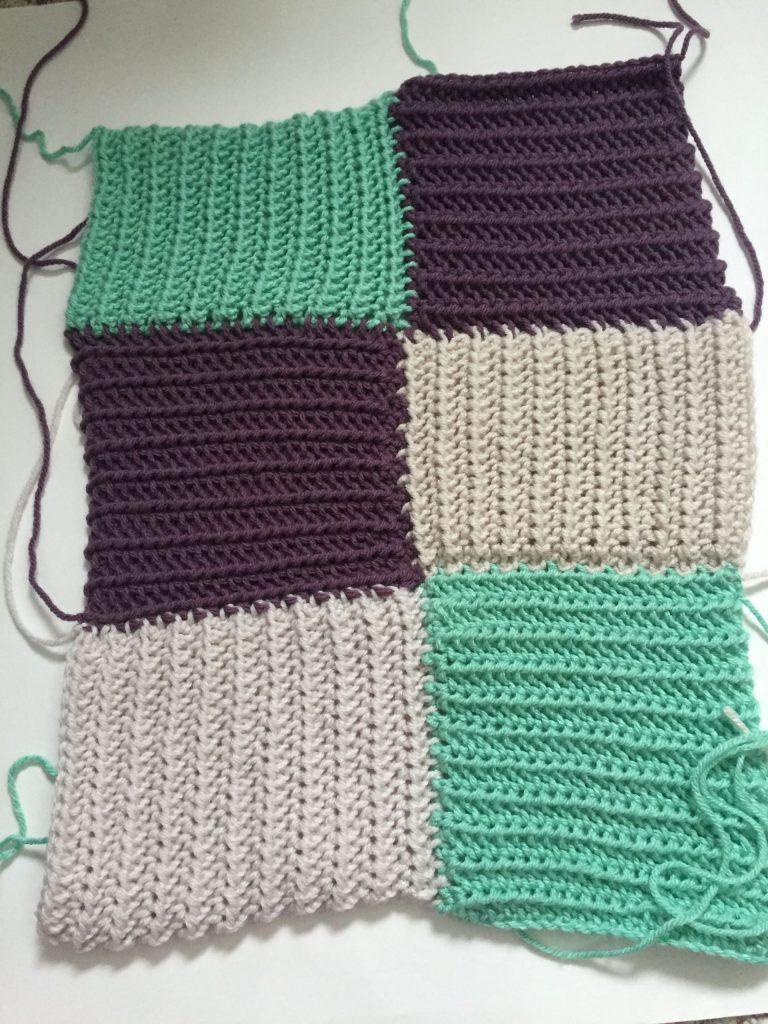 Squares Together in a Crochet Quilt