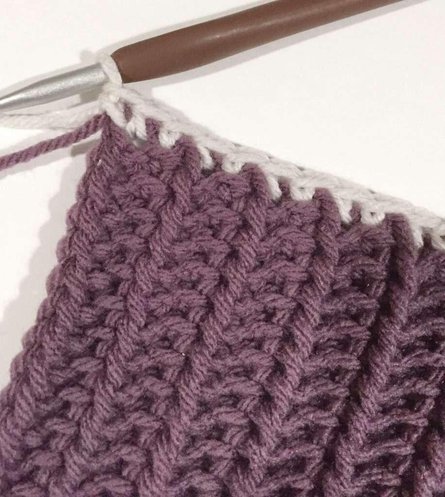 2 single crochet in corner