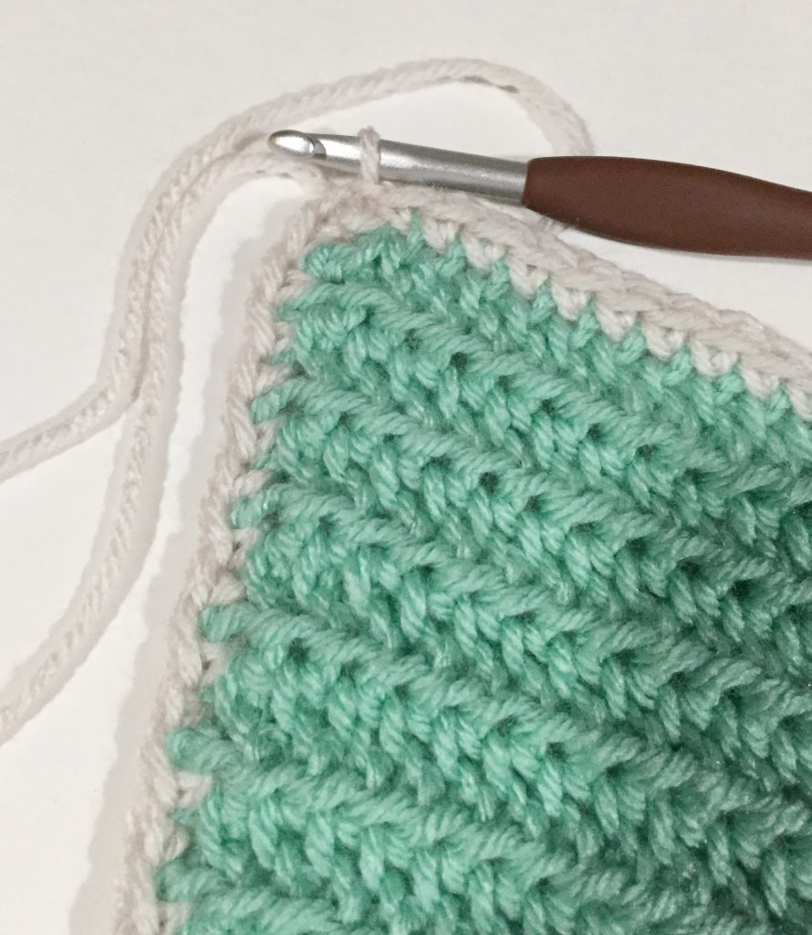 End with a slip stitch