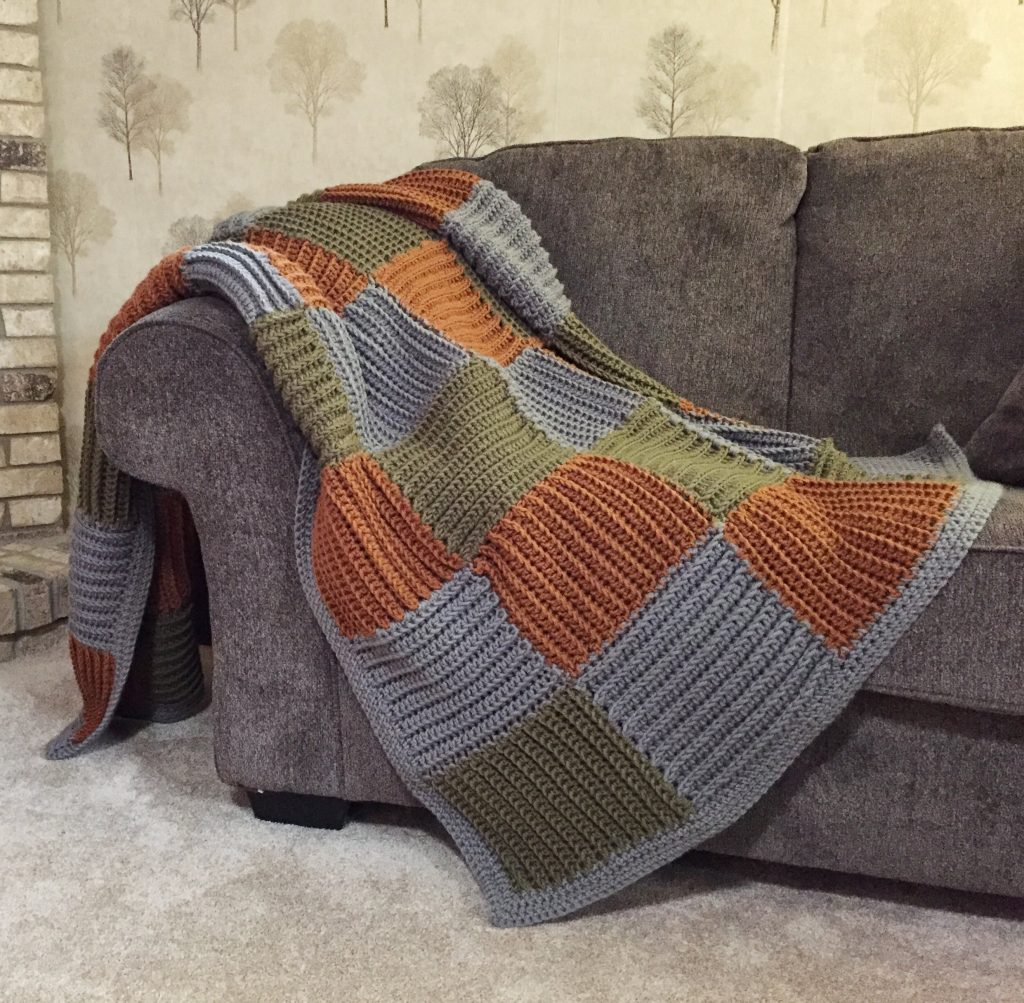 Join as You Go Crochet Quilted Blanket