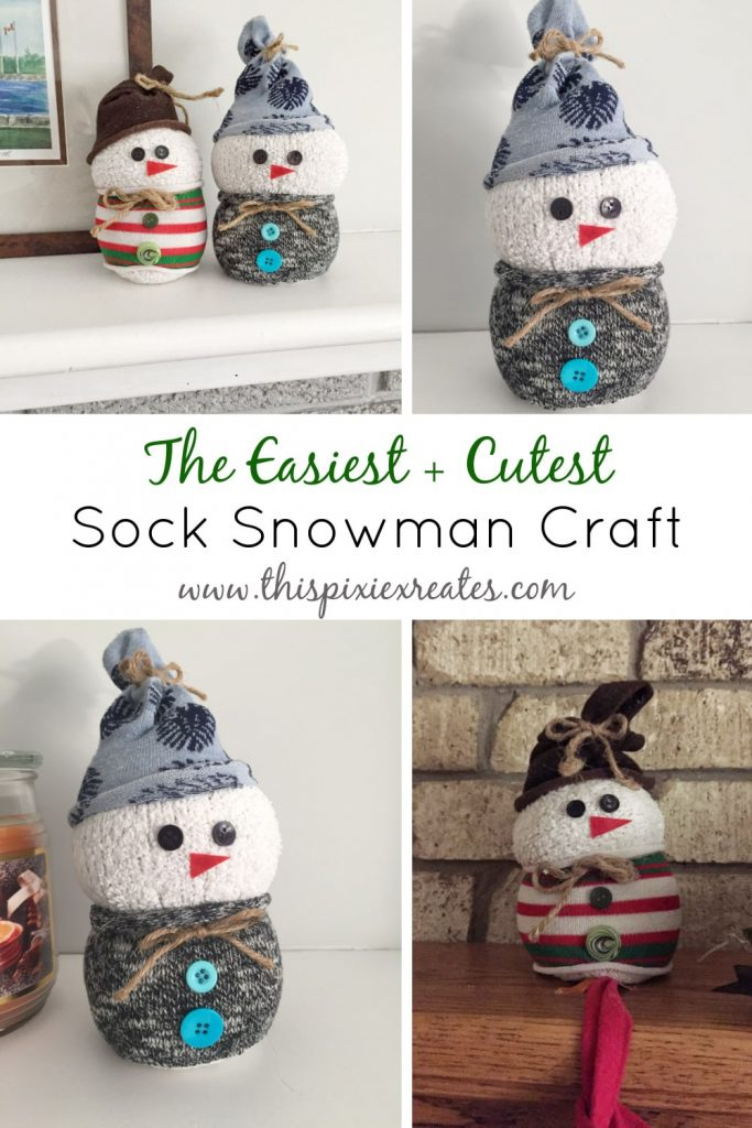 The Cutest Sock Snowman Craft