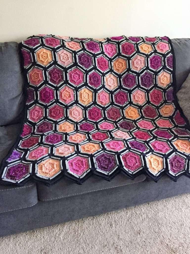 Dusk to Dawn Hexagon Crochet Blanket Pattern