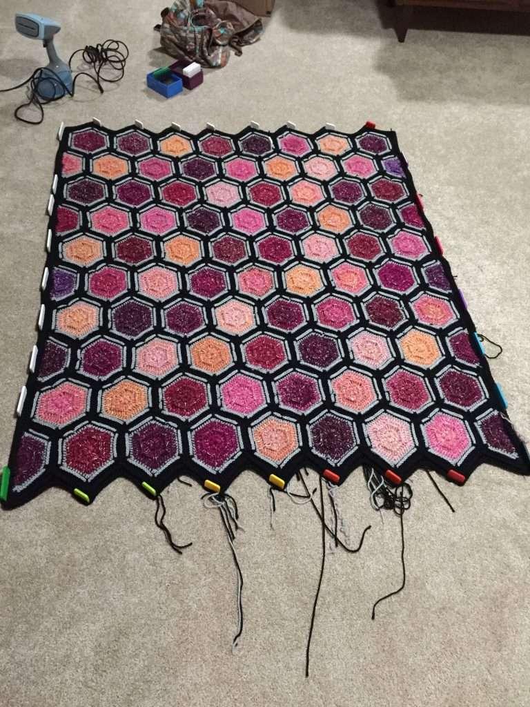Blocking your crochet afghan