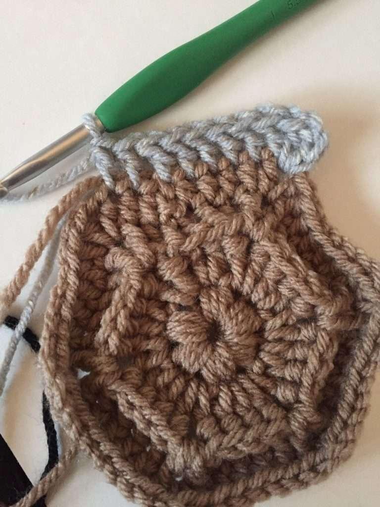 Crochet Hexagon Round 5