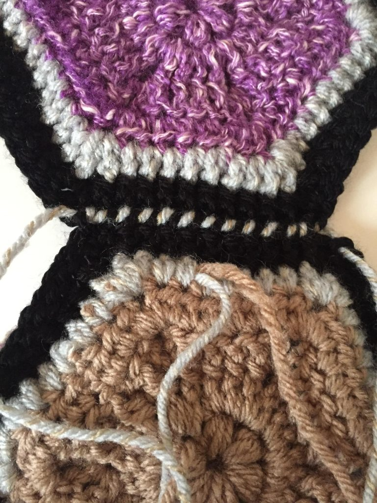 Seaming Crochet Hexagons Together