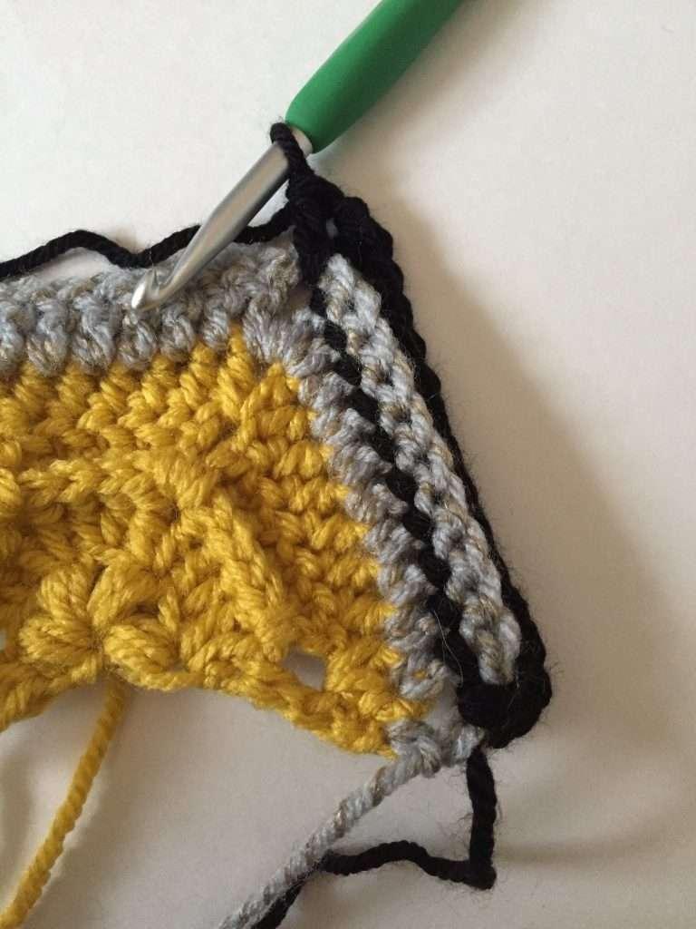 Round 6 of Crochet Trapezoid