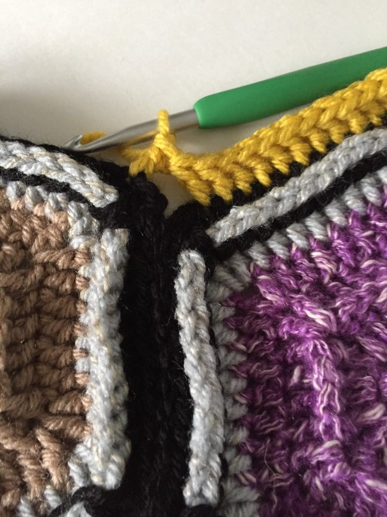 Hexagon Blanket Crochet Border