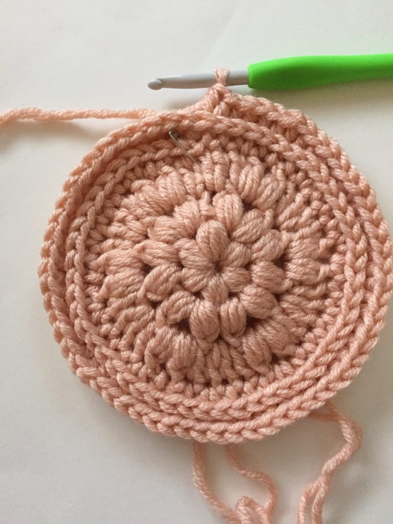 Round of Half Double Crochet in 3rd Loop Only