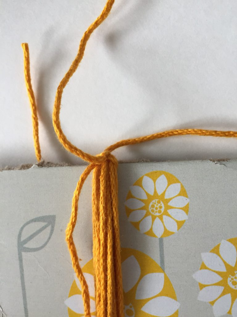 Double Knot to Secure Tassel