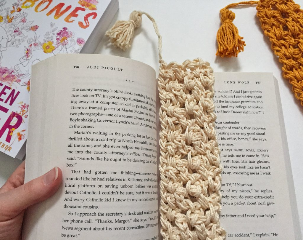 Textured and Easy Crochet Cotton Bookmark Pattern