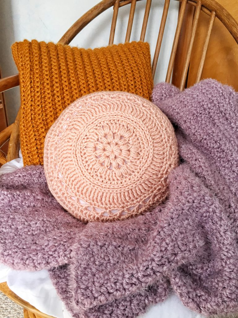 Crochet Boho Round Pillow Pattern