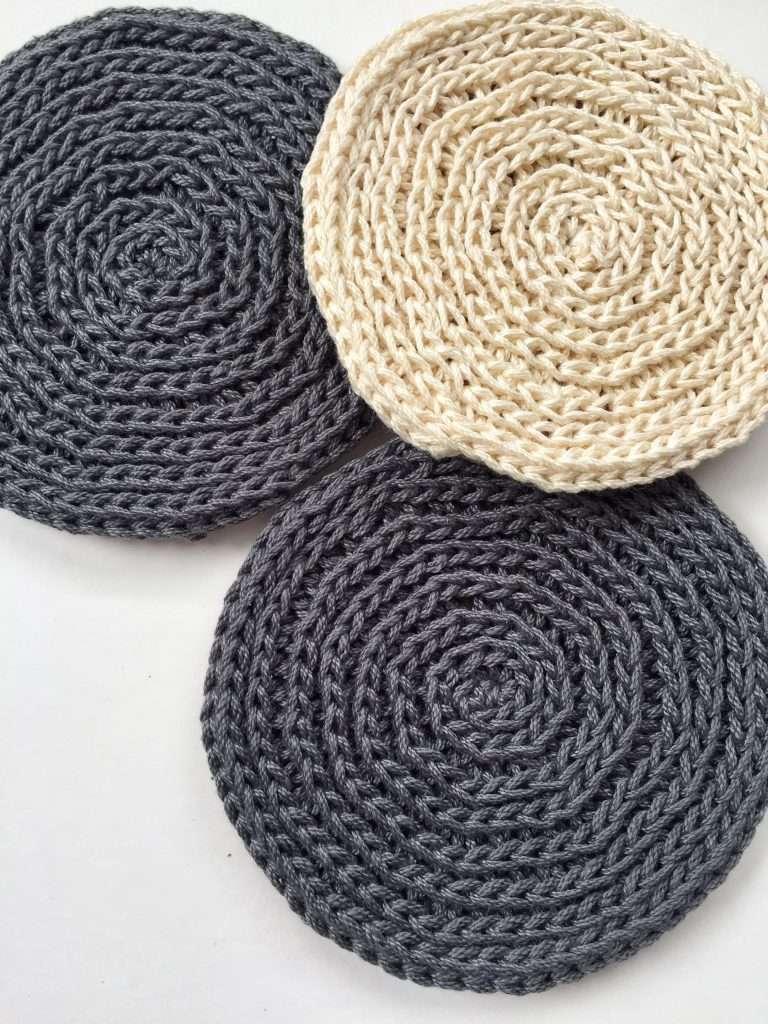 Half Double Crochet in 3rd Loop only Coasters