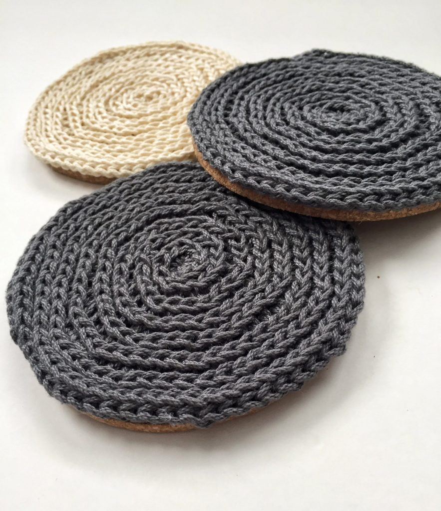 Crochet Textured Coasters in 3rd Loop Only