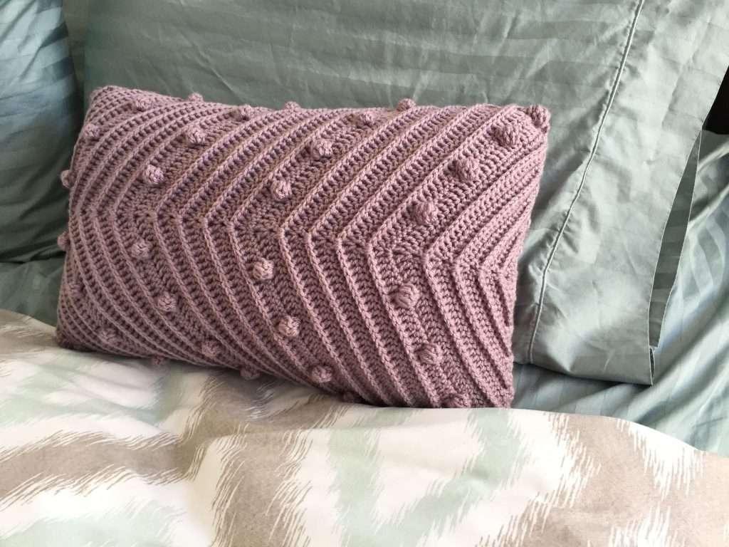 Bobbles and Texture Crochet Pillow Pattern