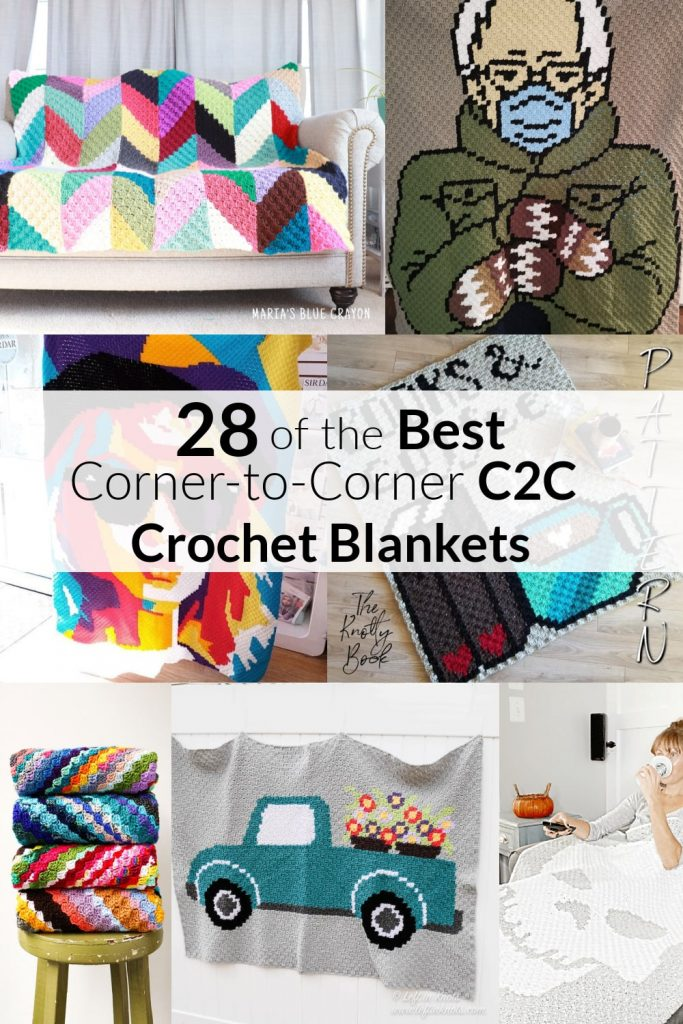 Collection of 28 Crochet C2C Blankets