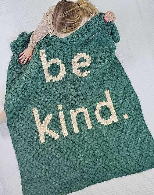 Be Kind C2C Blanket