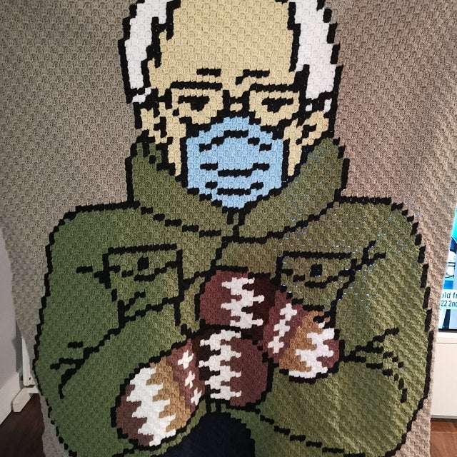 Bernie Sanders C2C Blanket Pattern