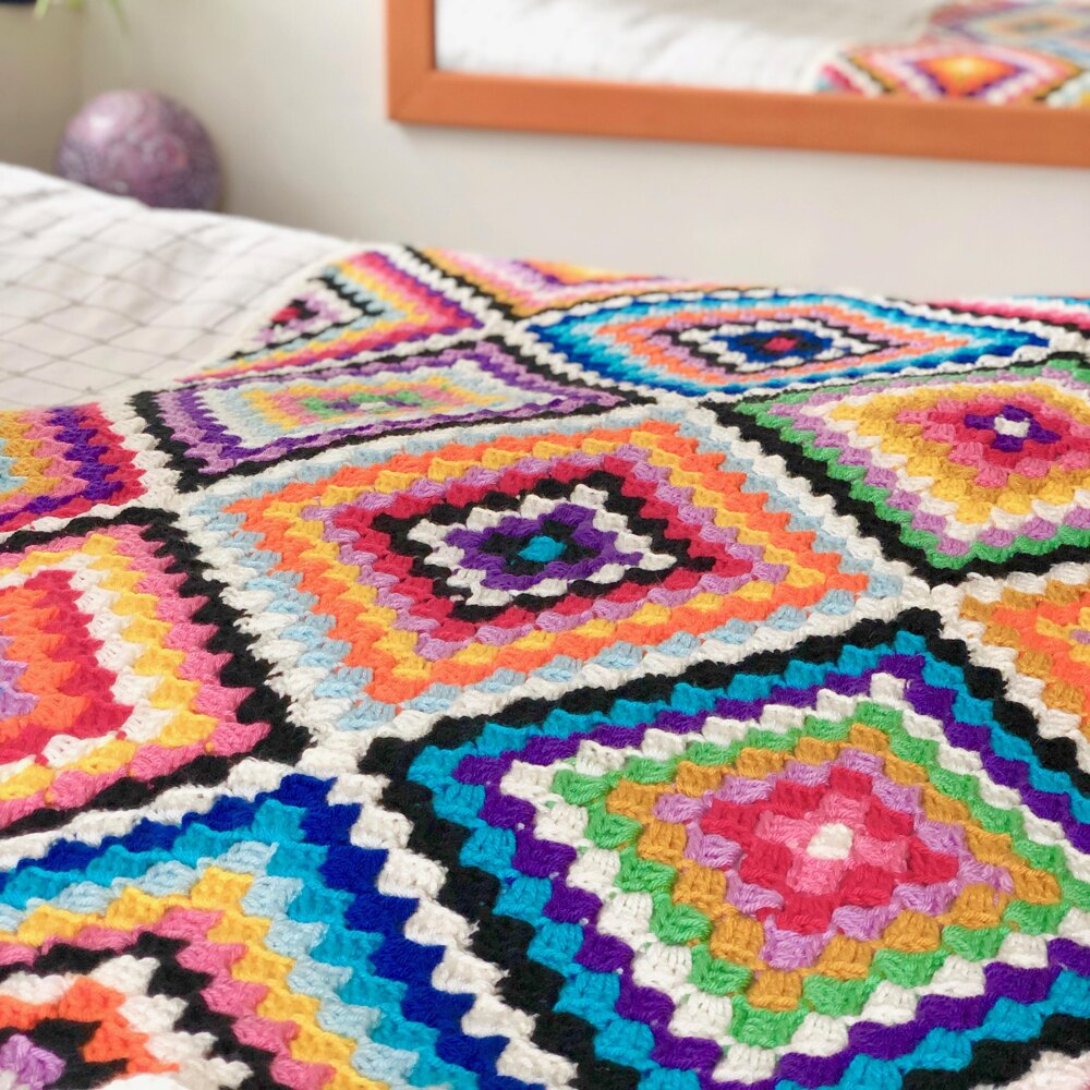 Colourful Carnaby C2C Blanket