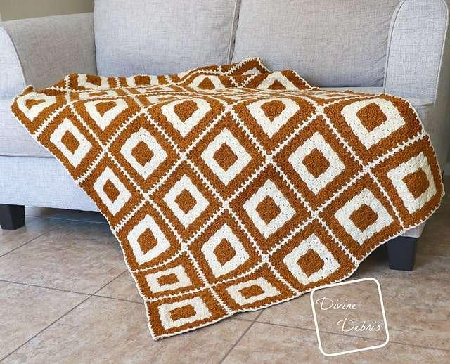 Concentric Squares C2C Blanket