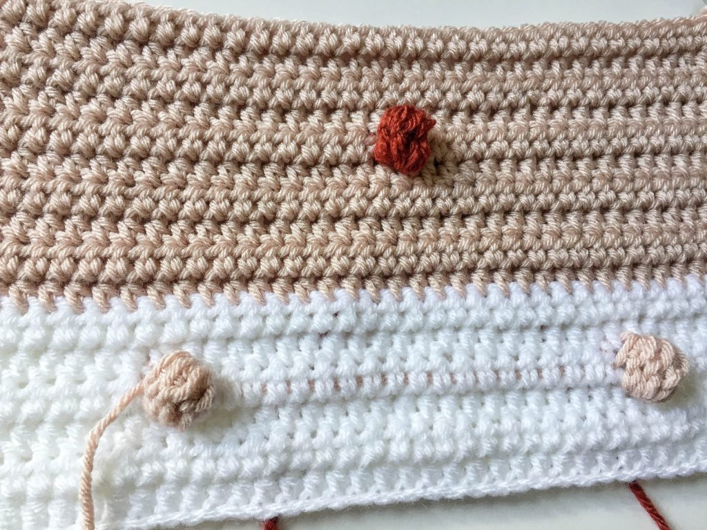 Panel 1 and 2 of a Crochet Baby Blanket