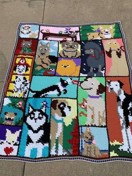 Dogghan C2C Blanket