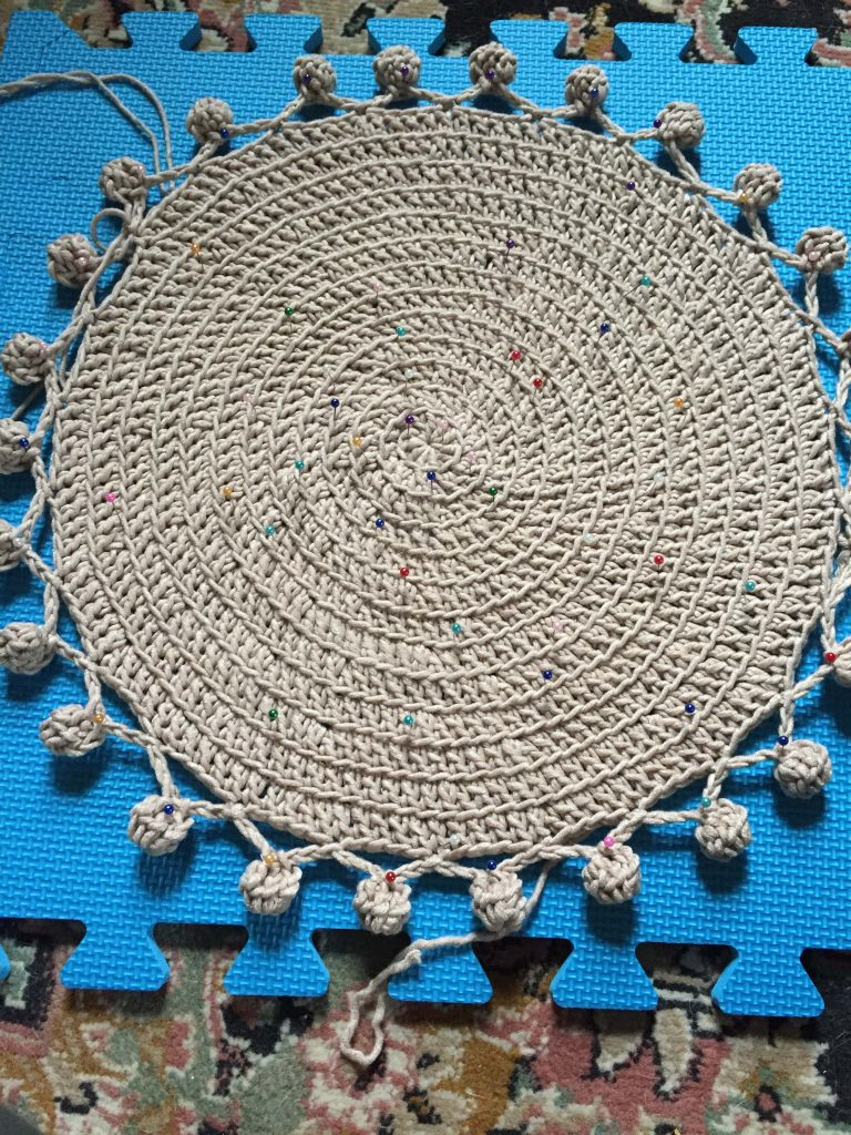 How to Block a Crochet Placemat