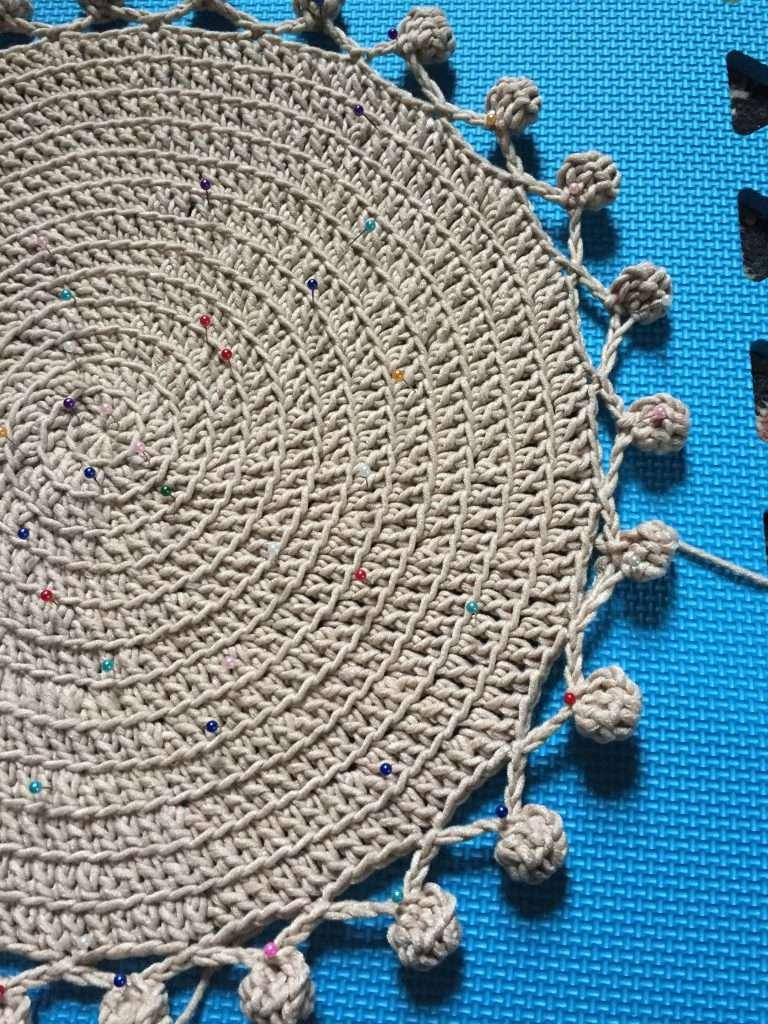 Blocking a Crochet Placemat